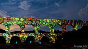 Pont du gard illumine