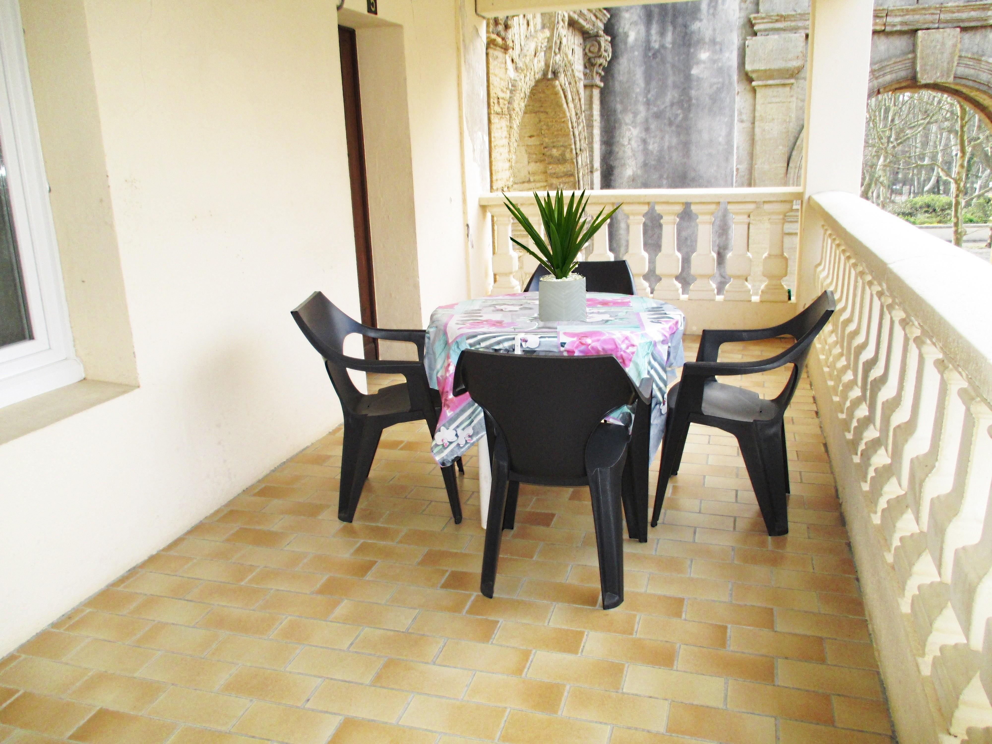 Coté terrasse Appart n°5 RDC