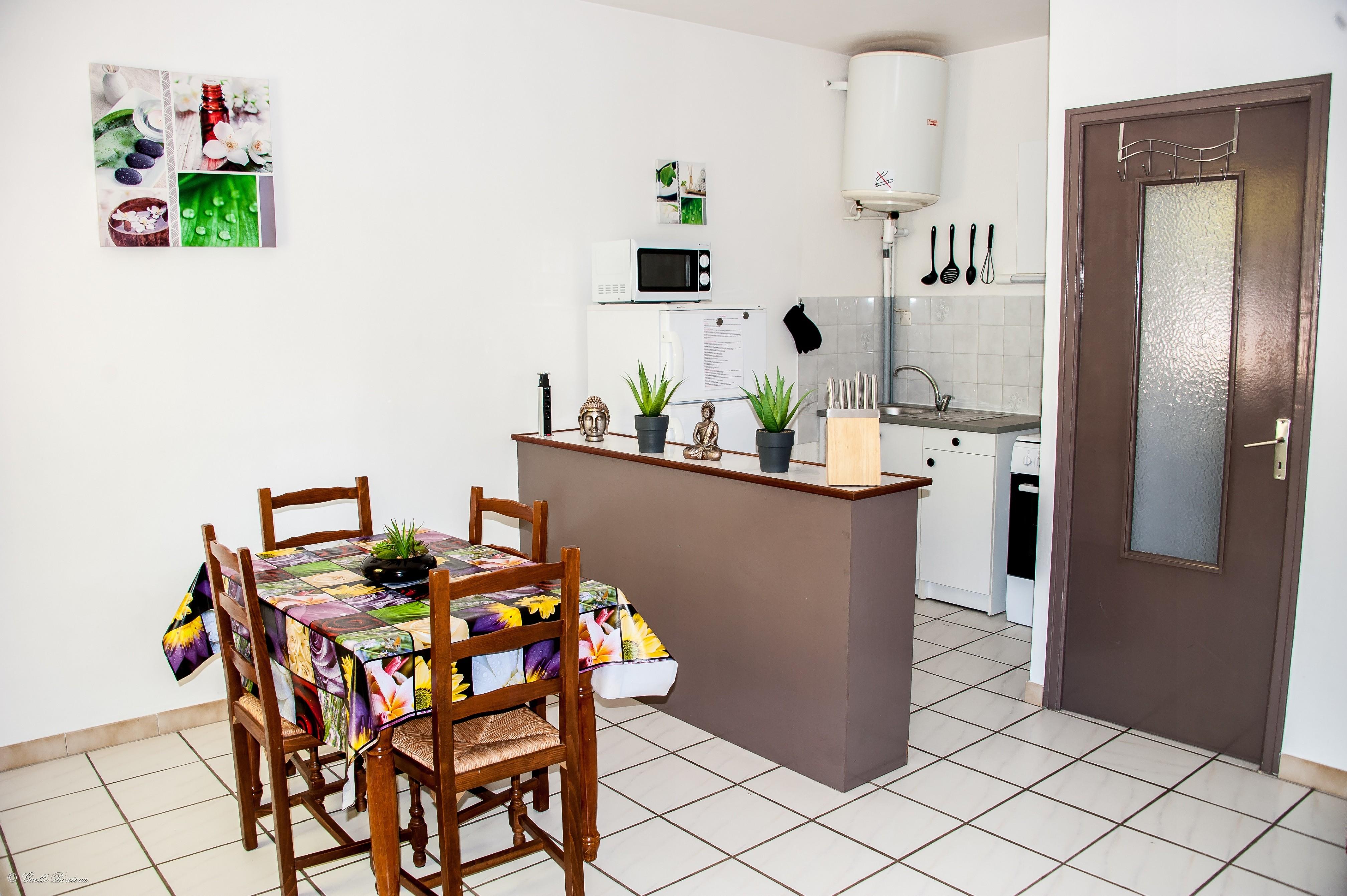 Coté cuisine Appart n°7 au 1er étage